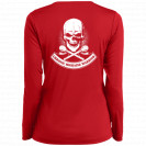 Chronic Migraine Warrior Skull Long Sleeve V-neck Backprint Shirt