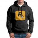 Rockstar Games Logo Men Long Sleeve Black Pullover Hoodies
